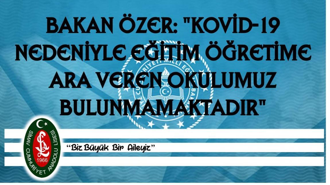 BAKAN ÖZER: